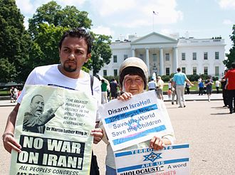 Ammar Aziz - Ammar Aziz during a protest with veteran peace activist Concepcion Picciotto in front of the White House in Washington, D.C.