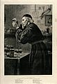 An apothecary in his laboratory concocting a mixture. Wood e Wellcome V0010843.jpg