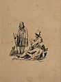 An artist sketching an elderly man with a reclining man look Wellcome V0049046.jpg