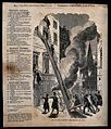 An extendable ladder is used by fireman to rescue people fro Wellcome V0039404.jpg