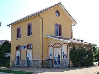 Cercié - The former railway station in Cercié