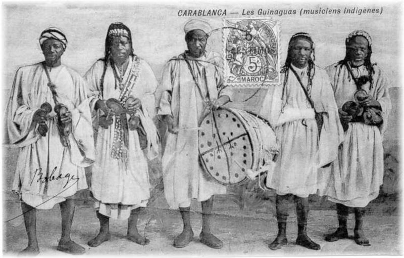Musique Gnawa Du Maroc  800px-AncientGnawa