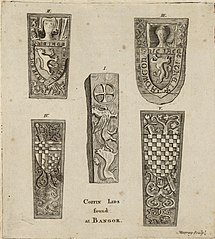 Ancient coffin lids at Bangor