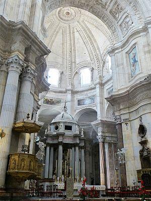 Cádiz Cathedral - Image: Andalucía Cádiz Catedral 2 tango 7174