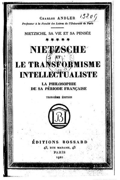 File:Andler - Nietzsche, sa vie et sa pensée, V.djvu