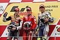 Andrea Dovizioso, Casey Stoner and Valentino Rossi 2010 Motegi.jpg