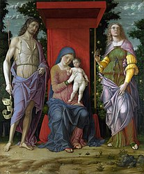 Andrea Mantegna: The Virgin and Child with Saints