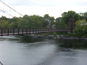 National Register of Historic Places listings in Cumberland County, Maine - Image: Androscoggin Swinging Bridge