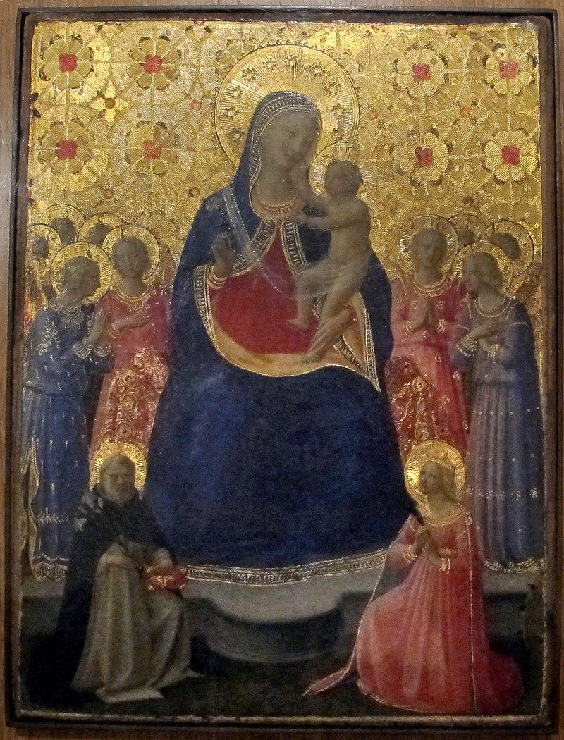 Angelico, madonna col bambino e i ss domenico e caterina, 1435 ca..JPG