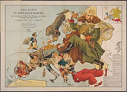 Angling in Troubled Waters A Serio-Comic Map of Europe.jpg