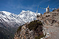 Annapurna 3 & chorten - High route trail between Ghyaru & Ngawal (4520317517).jpg