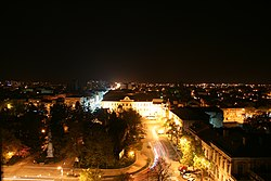 Brăila Old Town, night view