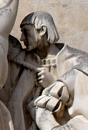 António de Abreu - Effigy of António de Abreu in the Monument to the Discoveries, in Lisbon, Portugal