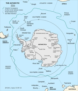 Antarctic Convergence Where cold, northward-flowing Antarctic waters meet the relatively warmer waters of the subantarctic