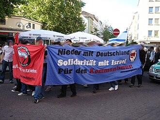 Anti-Germans (political current) - Image: Anti German communist protesters in Frankfurt in 2006