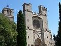 Antiga catedral de Sant Nazari (Besiers) - Vista general de la façana.jpg