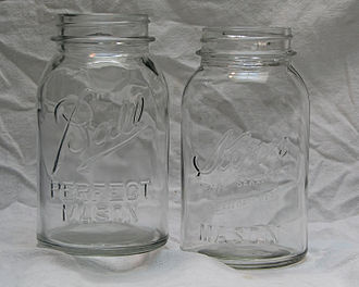 Detection of fire accelerants - Image: Antique Mason jars