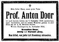 Anton Door (1833–1919) Todesanzeige.jpg