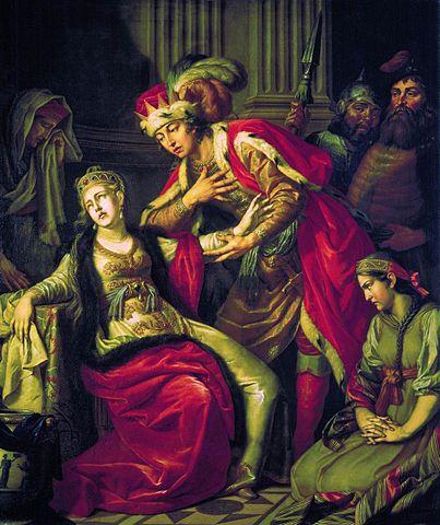 Антон Лосенко. Владимир перед Рогнедой, 1770