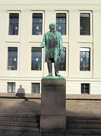 Anton Martin Schweigaard - Statue of A. M. Schweigaard at Universitetsplassen by Julius Middelthun