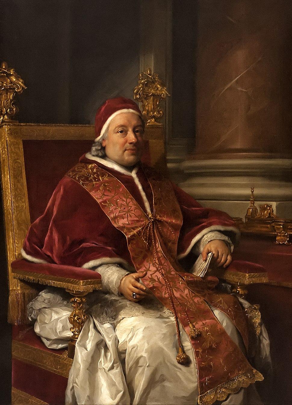 Anton Raphael Mengs (1728-1779) - Portret van paus Clemens XIII (1758) - Bologna Pinacoteca Nazionale - 26-04-2012 9-53-03