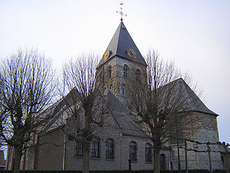 Anzegem - Anzegem's church of Saint John the Baptist before it was destroyed by fire in 2014.