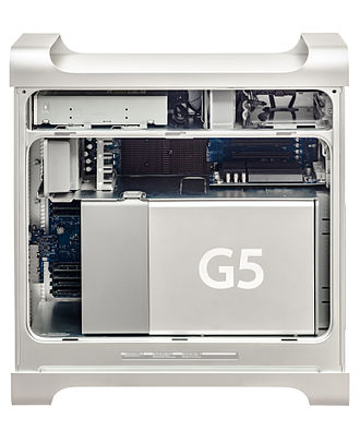 Power Mac G5 - The inside of a Power Mac G5, late 2005 model