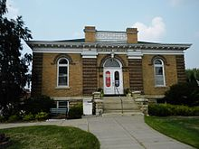 Carnegie library in Arcadia, Wisconsin.