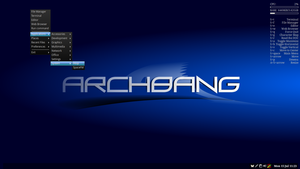 ArchBang - Image: Arch Bang Linux from the 2013.07.07 x 86 64 ISO image