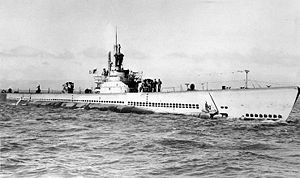 USS Archerfish (SS-311) - Archerfish undergoing a sea test on 5 June 1945 near San Francisco