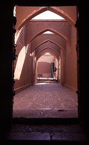 Koochehs provided relief from dust storms and intense sunlight. This was an efficient and ancient form of urban design in Persia. Photo is from Kashan, Iran (Persia).