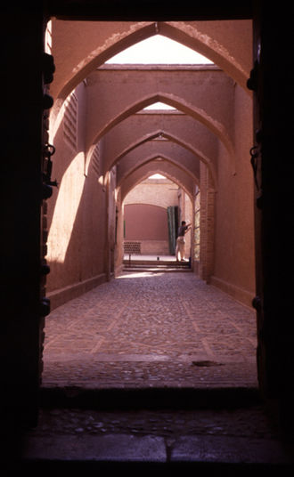 Kucheh - A Kucheh in Kashan. Photo was taken from entrance to Tabatabaei House looking outside into the Kucheh.