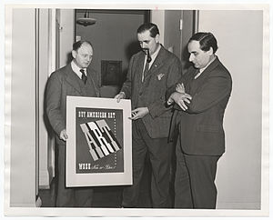 Reginald Marsh (artist) - Reginald Marsh (at left), Louis Bouche, and William Zorach