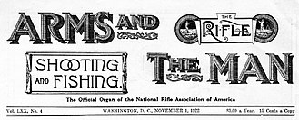 American Rifleman - A 1922 masthead of Arms and the Man incorporating the previous titles