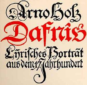 "Arno Holz - ""Dafnis"" (1904)"