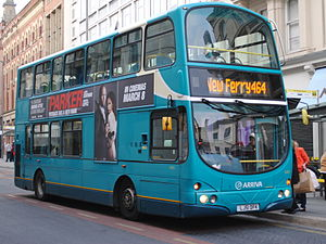 Arriva - Arriva North West Wright Eclipse Gemini bodied Volvo B7TL in Liverpool in March 2013 in the Interurban livery