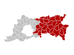 Location of the arrondissement in Flemish Brabant
