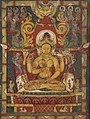 Art of Tibet detail, Bodhisattva as the personification of the text of Prajnaparamita (the Perfection of Wisdom) 13th century manuscript- Walters W8561 (2) (cropped).jpg