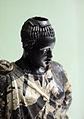 Arte romana con restauri moderni, testa di moro antico con corpo di restauro 02.JPG