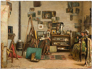 Odoardo Borrani - Visita allo studio, 1885–90 (Art collections of Fondazione Cariplo)
