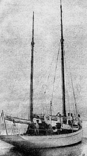 Asgard (yacht) - Asgard at sea, near Dublin.