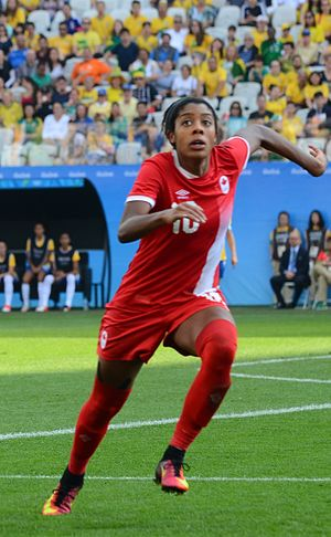 Ashley Lawrence (soccer) - Ashley Lawrence in 2016, São Paulo, during Rio 2016 match against Brazil