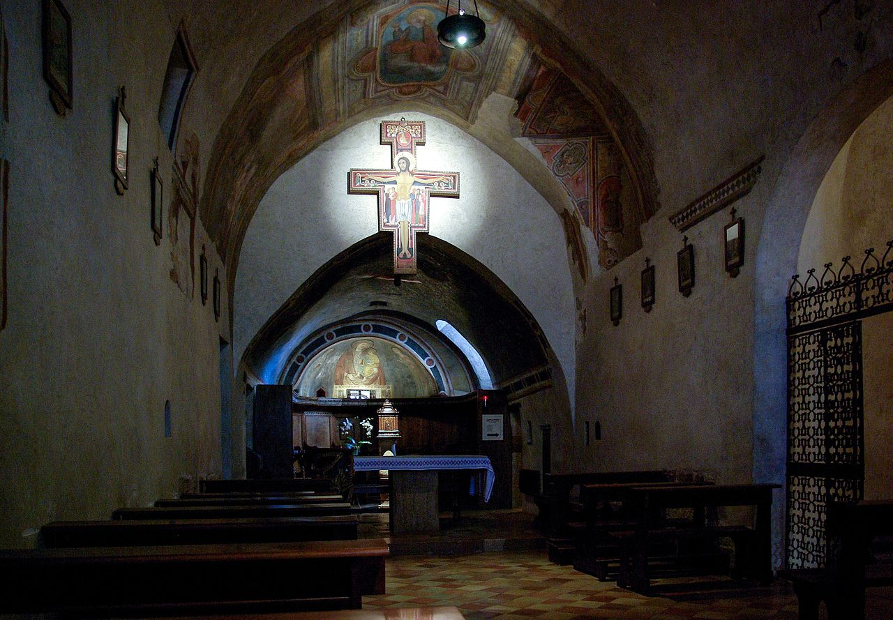 Chiesa di San Damiano (Assisi), interno (link ingrandimento - jpg) dans immagini sacre