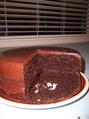 A super-chocolate cake, both baked and photogr...