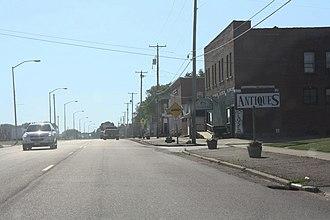 Auburndale, Wisconsin - Looking west in downtown Auburndale