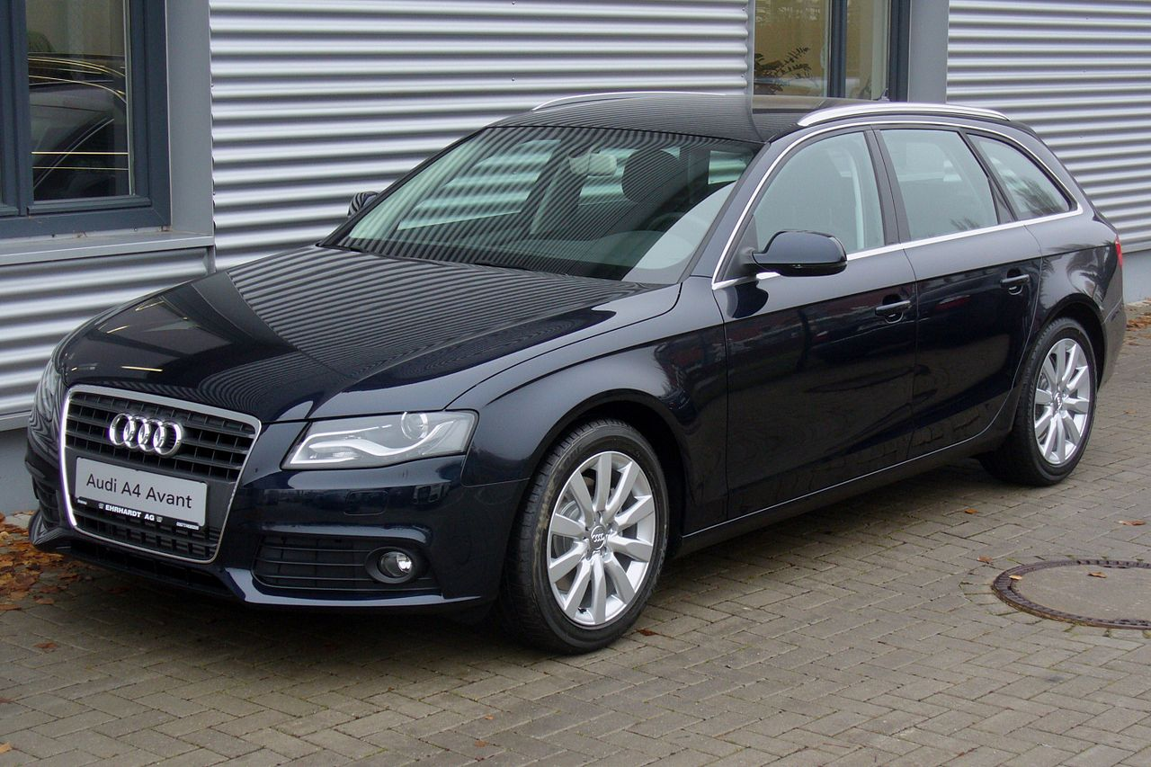 file audi a4 avant ambition 2 0 tdi tiefseeblau jpg wikimedia commons. Black Bedroom Furniture Sets. Home Design Ideas