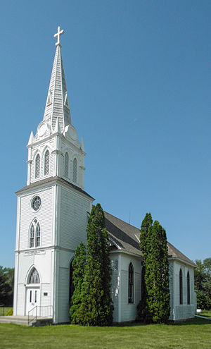 National Register of Historic Places listings in Brown County, South Dakota - Image: Augustana Sweidsh Lutheran Church NRHP 88002842 Brown County, SD