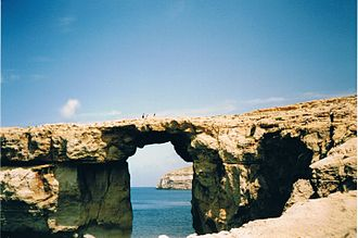 The Count of Monte Cristo (2002 film) - The Azure Window of Gozo appears in the background of some scenes (picture from 2003)