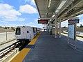 BART train at eBART transfer platform, May 2018.JPG