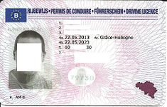 BE driving license
